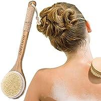 Körperbürste,Badebürste,Massagebürste,Rückenbürste & Trockenbürste,Perfekt für die Verbesserung der Blutzirkulation und...
