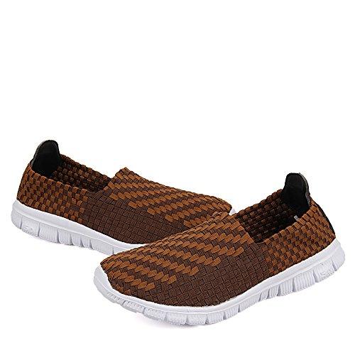 de de Transpirables Casuales de Zapatillas Brown Ligeras Zapatillas Deporte Mujeres Las Deporte Las de 6wqT0Ixq