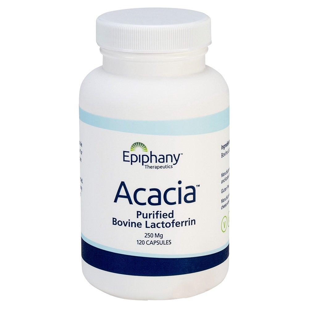 Acacia Purified Bovine Lactoferrin 250 mg Capsules, Quantity 120 Capsules per Bottle