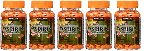 Kirkland Signature Apuxhv Enteric Coated Aspirin 325mg, 500 Tablets (5 Pack) by