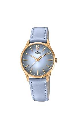 273489b8fd37 Lotus Watches Reloj Análogo clásico para Mujer de Cuarzo con Correa en  Cuero 18407 3  Amazon.es  Relojes