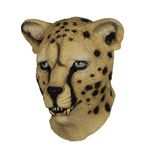 Latex Full Head LEOPARD CHEETAH (Leopard Masks)