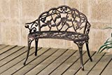 Cheap Patio Garden Outdoor Bench Cast Aluminum Iron Garden Yard Solid Construction