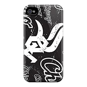 Shock Absorption Hard Phone Case For Iphone 4/4s With Customized Trendy Chicago White Sox Skin RitaSokul