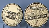 Set of 2 Commitment To Excellence Deliver Total
