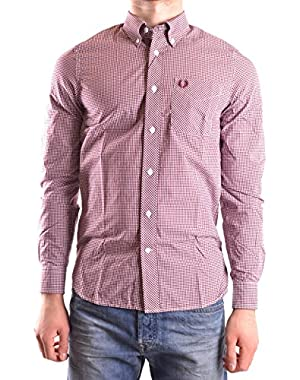 Men's MCBI128188O Red Cotton Shirt