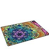 LORVIES Trippy Mandala Area Rug Carpet Non-Slip Floor Mat Doormats Living Room Bedroom 60 x 39 inches Review
