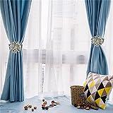 curtain tie back ideas  Pair of Magnetic Crystal Curtain Tiebacks Tie Backs Buckle Clips Holdbacks Home