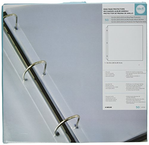 We R Memory Keepers Ring Page Protectors, 12 by 12-Inch, 50-Pack