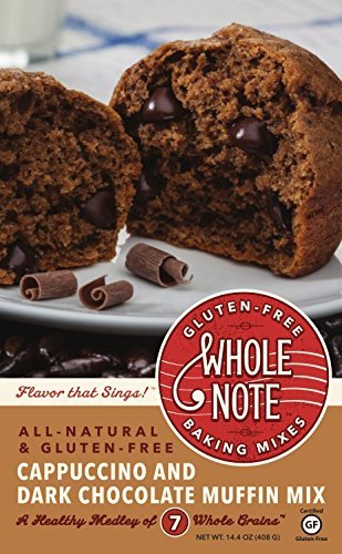 (Whole Note Gluten Free Baking Mix, Cappuccino and Dark Chocolate Muffin Mix, 14.4 oz, 3 Count)