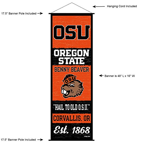 (Oregon State Beavers Banner and Scroll Sign )