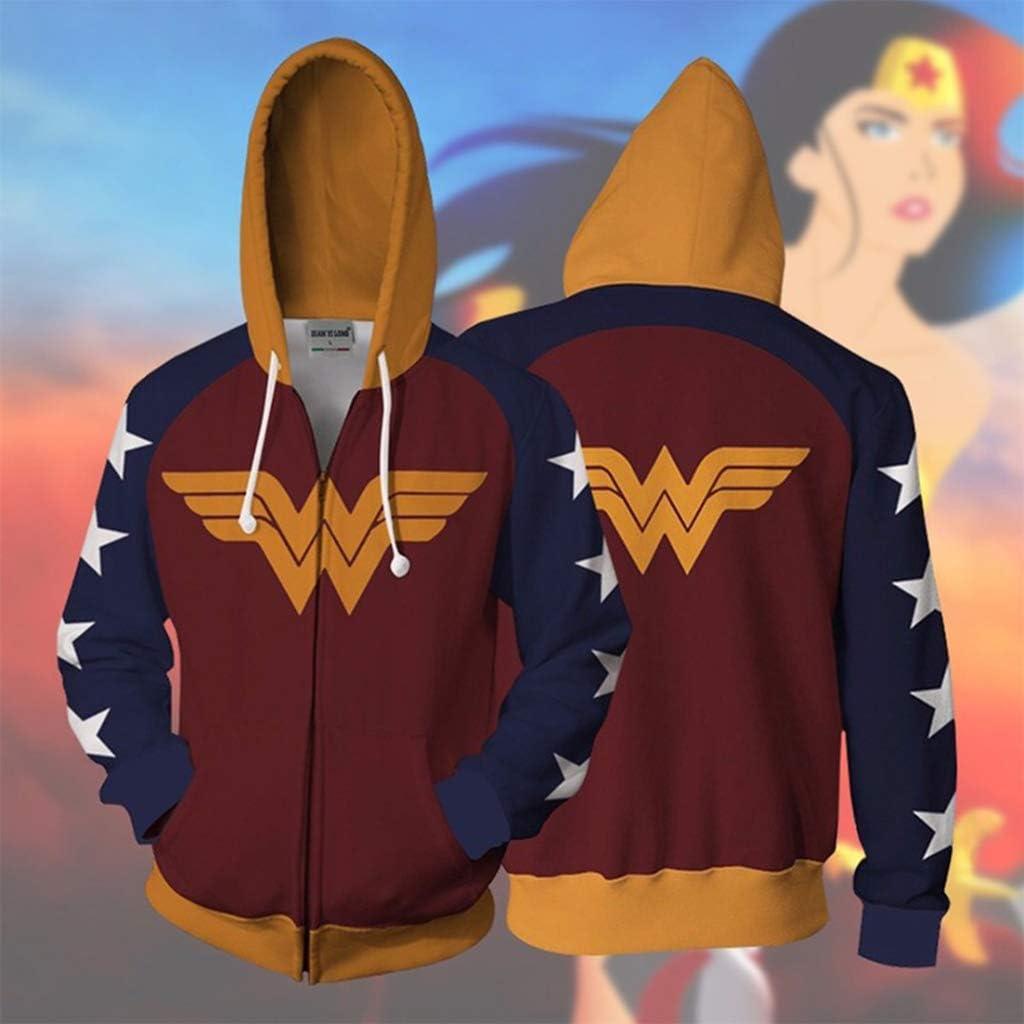 nihiug Robin Wonder Woman con el Mismo suéter con Capucha, Hombres ...