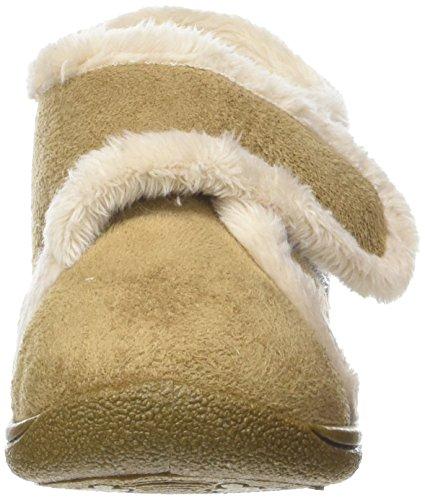 Rondinaud Yzeron, Botas de estar Por Casa Unisex Niños Beige (Camel)