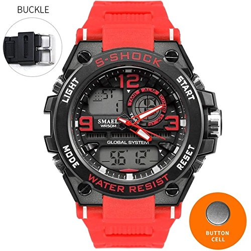 SMAEL Luxury Men Outdoor Super Watch With Definition LED Dual Display For Men Sport Watch 5ATM High Waterproof 1626 Series - Fashion Collection Definition