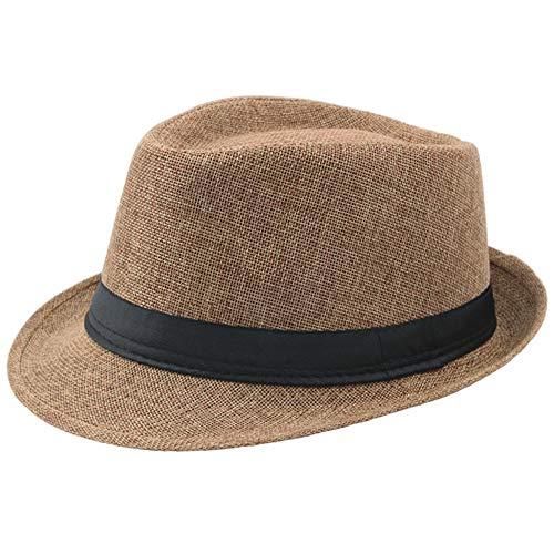 BABEYOND 1920s Panama Fedora Hat Cap for Men