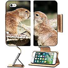 MSD Premium Apple iPhone 7 iPhone7 Flip Pu Leather Wallet Case Kissing Prairi dogs 36132860