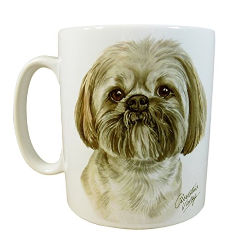 BOXED LHASA APSO DOG PUPPY MADE IN UK PRESENT GIFT QUALITY CERAMIC MUG CUP POT