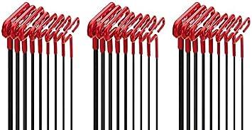 8pc set SAE Inch Sizes 3//32-1//4 EKLIND 53168 Cushion Grip Hex T-Key allen wrench 6In shaft - 2 Pack