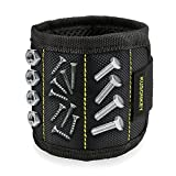 Magnetic Wristband, Kusonkey 15 Magnets Holding Screws Nails Drill Bits Gifts Gadgets Tools Gift for Men Him Dad DIY Handyman Electrician Husband Boyfriend Father Women Birthday Ideas