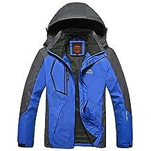 SODIAL(R) Spring autumn men Women Outdoor jacket Windproof Camping Hiking sports coat men fishing tourism jackets waterproof men blue XL