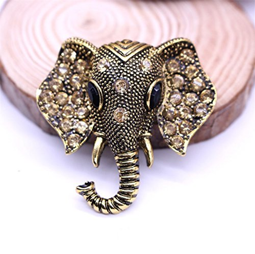 Bangkok Pin (Bangkok Thailand national wind elephant brooch lovely diamond three-dimensional animal models for men and women with clothes pins)