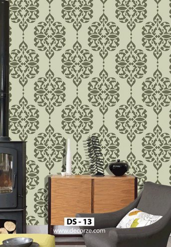 Damask Wall Stencil Free Ds 13 Buy Online In United Arab Emirates Decorze Products In United Arab Emirates See Prices Reviews And Free Delivery Over Aed 250 Desertcart