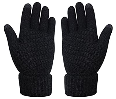 Womens Touch Screen Warm Soft Winter Knit Texting Gloves Cute Fashion Mittens for Smartphone Iphone Ipad