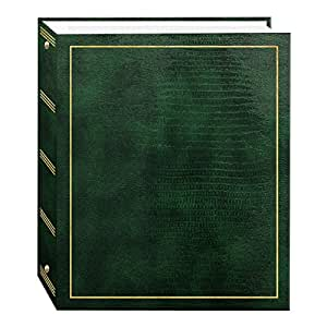 Magnetic Self-Stick 3-Ring Photo Album 100 Pages (50 Sheets), Hunter Green