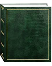 100 Magnetic Page 3-Ring Photo Album, Hunter Green