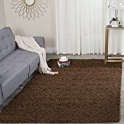 Safavieh Athens Shag Collection SGA119A Brown Area Rug (3 x 5)
