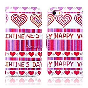 WQQ Love Pattern Full Body Case with Stand for iPhone 5/5S