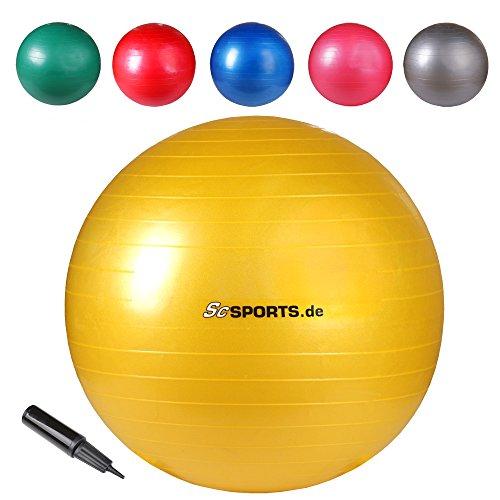 ScSPORTS Gymnastikball Sitzball, Gelb, 65 cm, 10000396