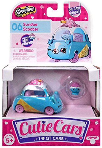 SHOPKINS CUTIE CARS # 6 SUNDAE SCOOTER WITH MINI SHOPKIN EXC