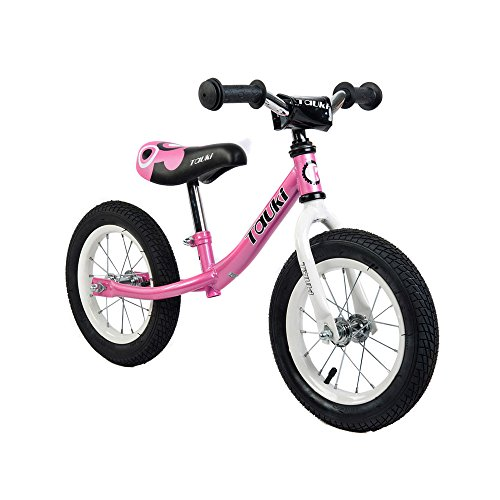 Tauki Kid Balance Bike No Pedal Push Bicycle, 12 Inch, Pink,