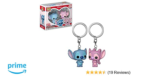 Funko Pop! Keychain: Lilo & Stitch & Angel 2 Pack Toy, Multicolor
