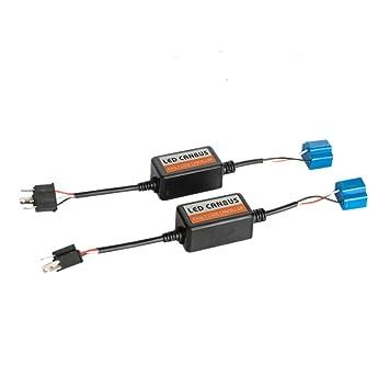 Fezz LED Coche Bombilla Faro Decodificador H4 Canbus Resistencia Adaptador Cableado Advertencia Cancelador Errores