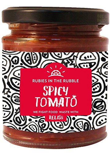 Rubies In The Rubble Spicy Tomato Relish 210g (Pack of 4) (Ruby Relish)