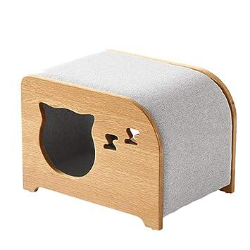 QNMM Fashion Pet Cat Furniture Sencillo Gato Multiusos o Perro pequeño Cubo y reposapiés Adecuado para Mascotas pequeñas y Medianas para Descansar: ...