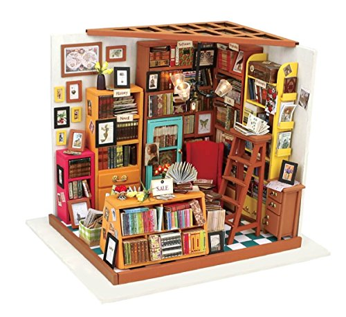 Hands Craft DG102 DIY 3D Wooden Puzzle Miniature House: Sam's Study