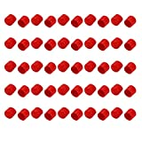 uxcell 50pcs 24mm Dia Red Rubber Thread Round Cabinet Chair Leg Insert Cover Protector