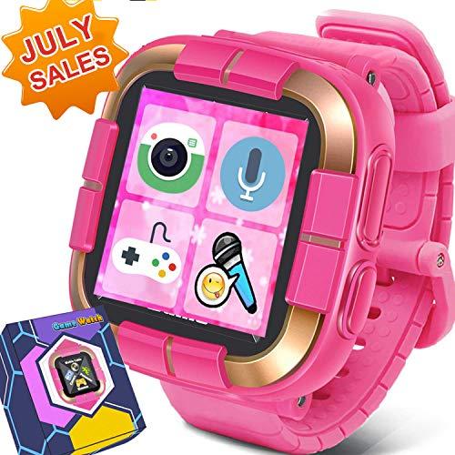 [Smart Watch for Kids] Walkie Talkie Watches with Game Digital Camera Alarm Timer Stopwatch, Touchscreen Smartwatch, Kids Watches Back to School Supplies Birthday Gifts Boys Girls Children, Pink