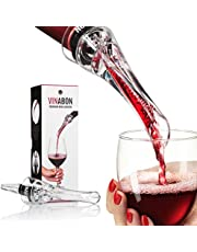 VINABON Wine Aerator for Wine Bottles - Premium 2-in-1 Wine Air Aerator and Wine Aerator Pourer Spout - Attachable In-Bottle Wine Aerators for Wine - Red Wine Aerorater Airarator with WineGuide eBook