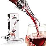 Vinabon Wine Aerator - Premium 2019 Aerator Wine Pourer - Wine Aerator Pourer - Wine Pourer - Wine Spout - Red White In Bottle Wine Aerator Kit - Slow Mini Wine Air Aerators - eBook Wine Guide