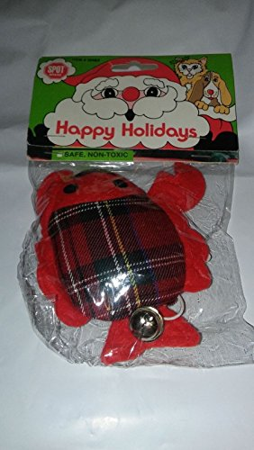 Catnip Infused Ring Teaser Holiday Plaid Lobster Cat Toy With Bell By Spot Ethical