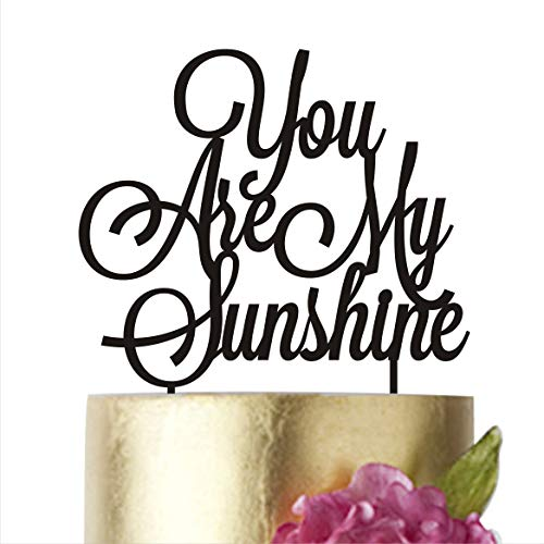 Birthday Cake Topper, You are my sunshine, Birthday Party, Cake toppers, Cake Decorations, Baby cake topper, Sunshine cake topper, Anniversary (width 5'', white) by HappyPlywood