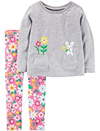 Girls' 2-piece Long Sleeve Top and Legging Sets
