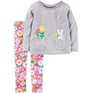 Carter's Girls' 2-piece Long Sleeve Top and Legging Sets