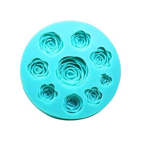 Moldes 3D diseño de rosas de silicona para usar con chocolate, fondant, jabón o