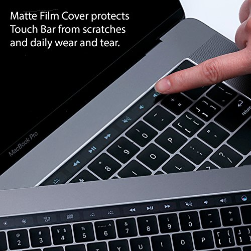 Homy Compatible Full Protection Kit for MacBook Pro 13 inch 2016, 2017, 2018 Keyboard Cover - Touch Bar Protector, Trackpad Protector, Webcam Anti-Spy Cover & Dust Plugs Port Protect A1706/A1989/A1708 by Homy international (Image #3)