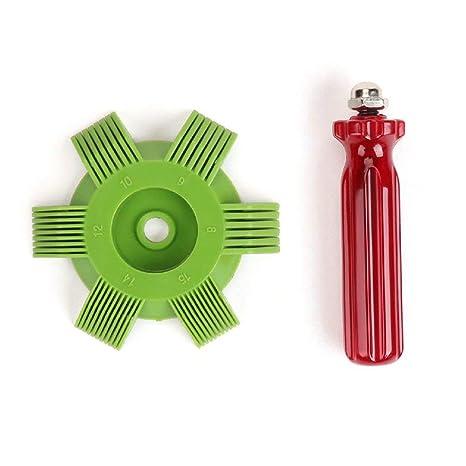 Amazon.es: Hemore Automotive Coche A/C Radiador Condensador Evaporador Bobina Peine Auto Refrigeración Sistema Herramienta Vehículo Accesorio